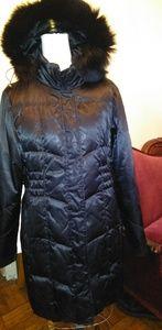 Utex Platinum Puffer Coat with Hood - Large